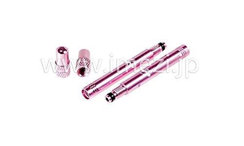 バルブエクステンダー40mm2個セット キャップ付 (ピンク)