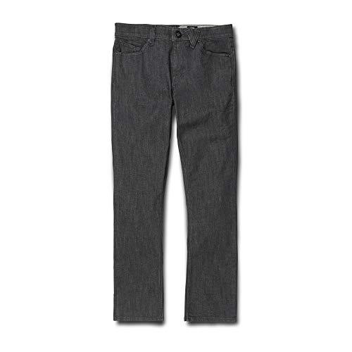 Volcom Men's 2x4 Stretch Denim Jean, Dark Grey 36X34