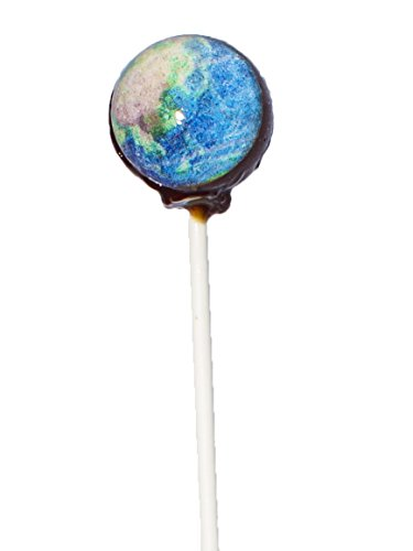 Sparko Sweets Galaxy Lollipops Clam-Shell Gift Pack, Planet Designs, 10 Count, 8 Ounce