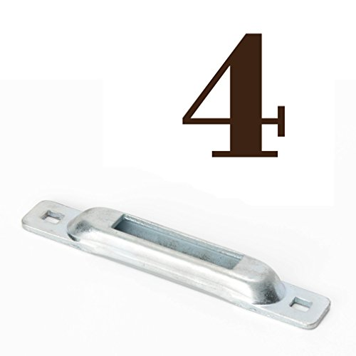 FOUR E-Track Singles: Galvanized Steel ETrack Mini Slots, TieDown Anchors for Spring Fitting Ratchet, Cam EStraps & Accessories | Tie Down Motorcycles, Cargo, Bikes, Boats on Docks, Trailers, (Trailer Dock)