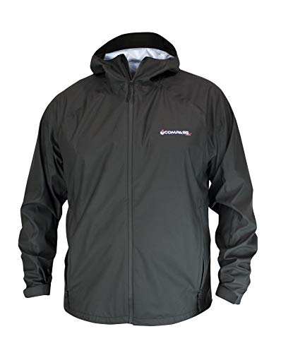 COMPASS 360 Pilot Point Waterproof Breathable Rain Jacket (Medium, Black)