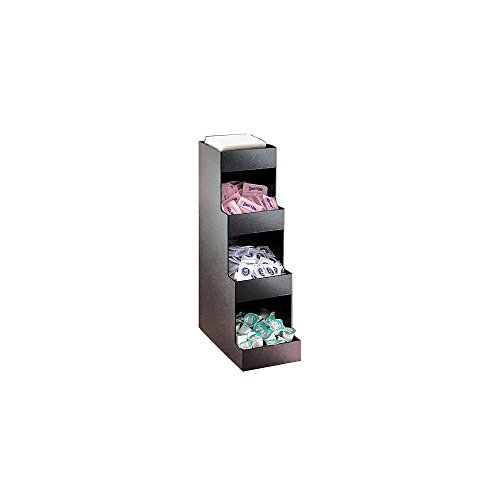 """Cal-Mil 1261 Classic Tier Condiment Display, 6.5"""" Width x 12"""" Depth x 20.5"""" Height, Black from Cal Mil"""