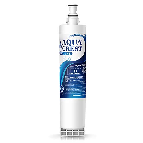 AQUACREST 4396508 Refrigerator Water Filter, NSF 401 Certified to Reduce 13 Contaminants, Compatible with Whirlpool 4396508 4396510, Filter 5, 46-9010, PUR W10186668, NLC240V (Pur Filter 4396710)