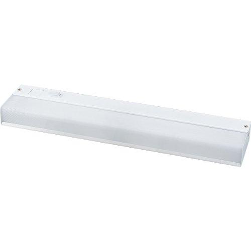 Progress Lighting P7017-30 White Acrylic Diffuser and White Baked Enamel Housing For Standard 120 Volt Normal Power Factor Ballast, White