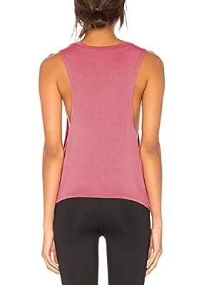 Bestisun Women's Cute Yoga Shirt Sleeveless Cut Out Back Workout Sport Tank Top