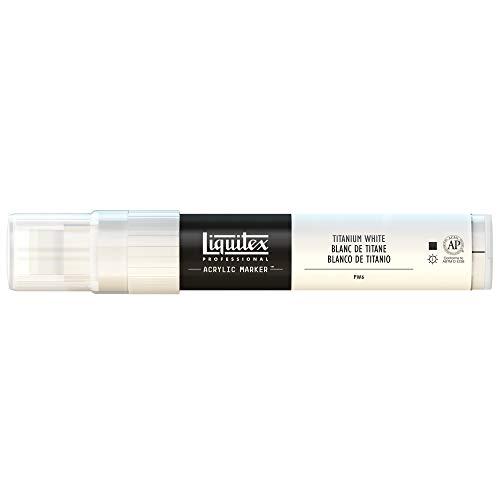 (Liquitex 4610432 Professional Wide Paint Marker, Titanium White)