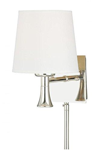 Vaxcel W0181 Chapeau Smart Lighting Indoor Wall Light, Polished Nickel Finish