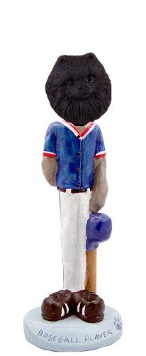 (Pomeranian Black Baseball Doogie Collectable Figurine )