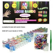 DIY Rubber Band Bracelets Loom Kit | Includes Loom, Hook, 600 Bands, 30 Clips