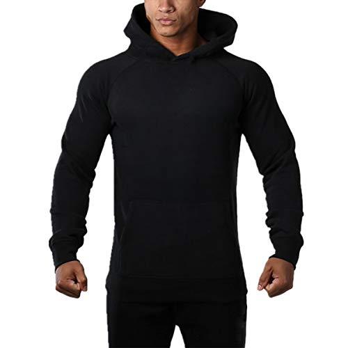 Muscle Killer Athletic Big Boys' Workout Pullover Hooded Hoodies Sweatshirt (M, Black) ()
