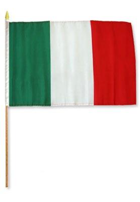 - Italy Stick Flags - One Dozen Stick Flags - 12