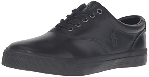 Polo Ralph Lauren Men's Vaughn Fashion Sneaker, Black/Black, 11.5 D US