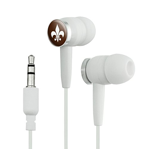 Fleur de Lis Brown Novelty In-Ear Earbud Headphone...