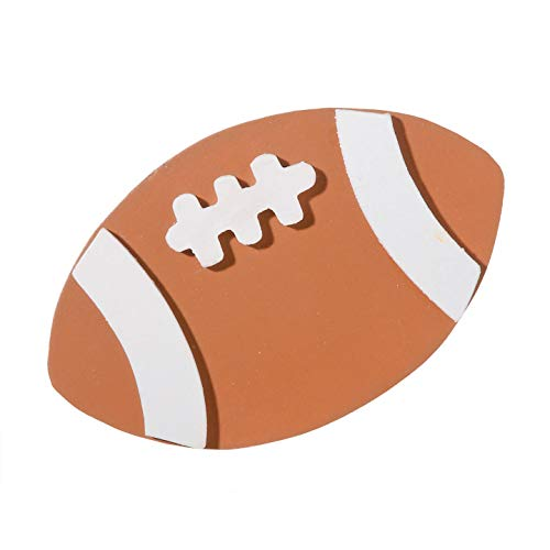 Darice Bulk Buy DIY Painted Wood Shape -Football- 2.5 x 4 inches (12-Pack) 9199-53 ()