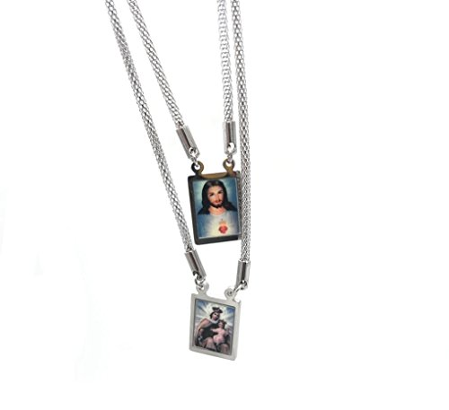 Escapulario Necklace: Escapulario De La Virgen Del Carmen. Jesús. Our Lady Of