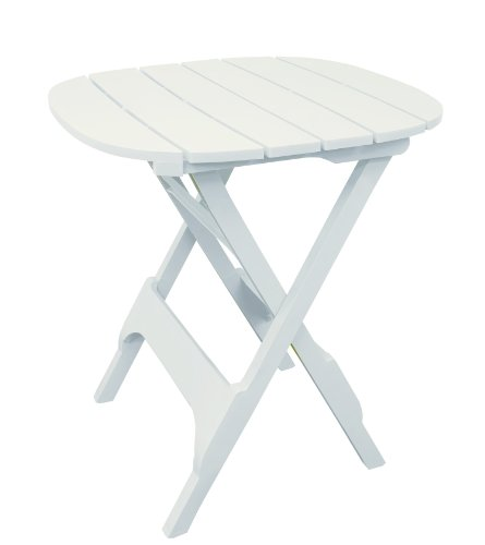 Adams Manufacturing 8561-48-3701 Quik-Fold Bistro Table, 34-Inch, White