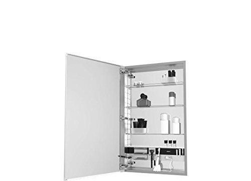 Robern MC1230D4FPRE2 M-Series Mirror Cabinet with Plain Edge Door, Silver