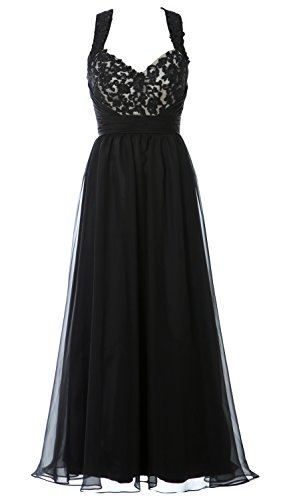 MACloth Sweetheart Raceback Lace Long Prom Ball Gown Formal Evening Party Dress Negro