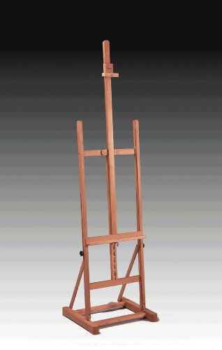 Deluxe Studio Easel, Professional Floor Standing, Elm Finished by Easel Master, Inc.