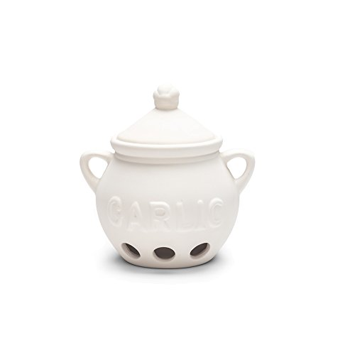 Fox Run 3971 Garlic Keeper, Ceramic, - Garlic White Keeper
