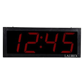 Buy Laurex LED Red Digital Wall Clock Online at Low Prices in