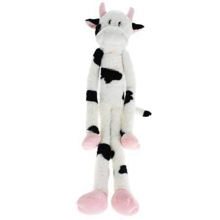 "Multipet Swingin Slevins Plush Dog Toy 30"" Cow"