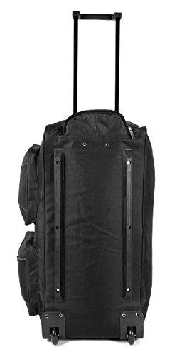 ks-ex-10027inch nero espandibile grande borsone da viaggio con ruote borsa da viaggio