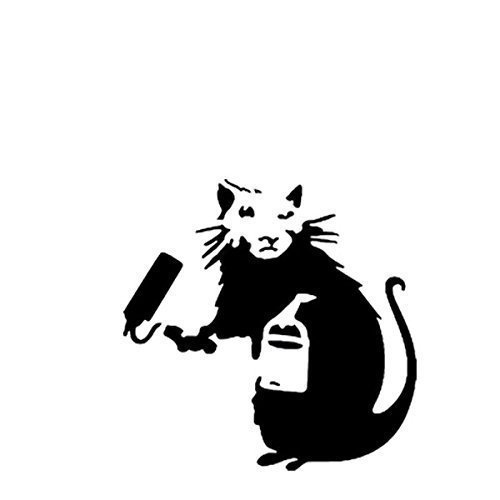 BANKSY RATTE Schablone / Farbroller Ratte / A4 Blatt Grö ß e (Design 17x17cm) / Heim Dekoration Kunst malen Schablone Ideal Stencils