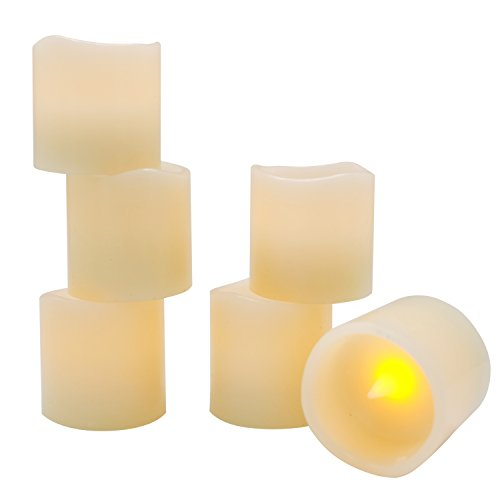 Eldnacele Battery Tea Lights with Timer, Real Wax Flameless Candles Tealights 6 Hours on and 18 Hours Off in 24 Hours Cycle Automatically with 12 CR2032 Batteries for Home Decoration