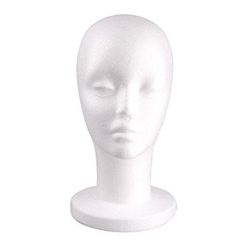 Banggood Female Styrofoam Mannequin Manikin Head Model Foam Display