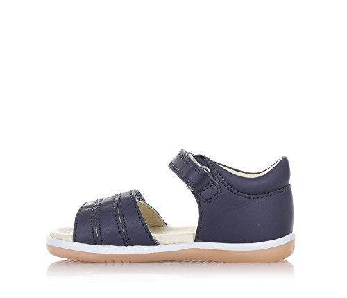 BOBUX - Sandale I-Walk Spring bleue en cuir, made in New Zealand, avec double fermeture en velcro, Fille, Filles