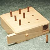 9-Hole Pegboard Hardwood pegboard Game is Ideal for Finger Dexterity Exercises
