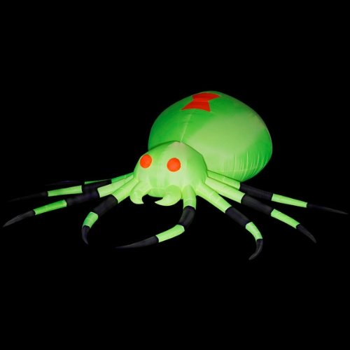 Gemmy Night Glo Neon Airblown Giant Spider w/ (Halloween Inflatables For Sale)