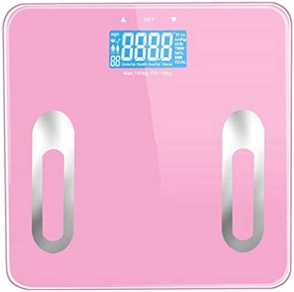 ZAQXSC-dzc 体のスケール体脂肪スケールプロの電子スケール女性の脂肪損失ボディ人体正確なかわいい電気ポンド (Color : Pink)