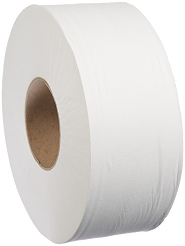 Basic Bathroom Tissue - AmazonBasics Professional Jumbo Roll Toilet Tissue for Businesses, 2-Ply, 800 Feet per Roll, 12 Rolls