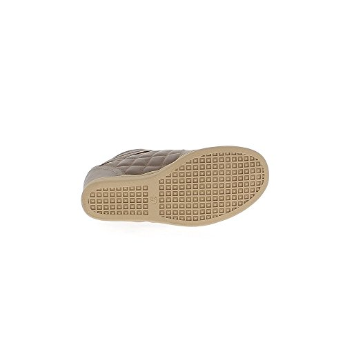 Baskets compensées montantes marron simili cuir à talon de 7cm