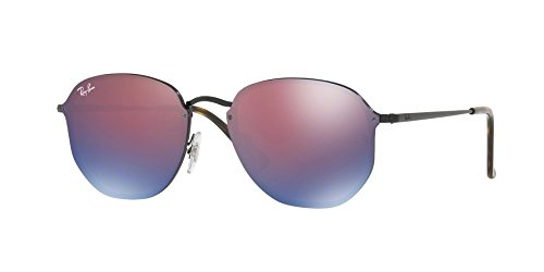 Ray-Ban-RB3579N-1537V-Demigloss-Black-Blaze-Round-Sunglasses-Lens-Category-3-L