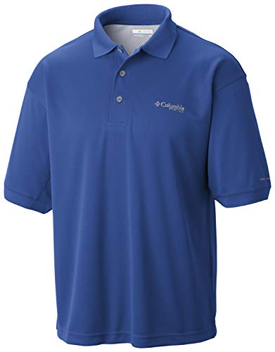 Columbia Sportswear Men's Perfect Cast Polo Shirt, Vivid Blue, 3X