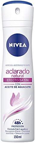 Nivea Desodorante Antitranspirante Aclarado Efecto Satín Spray, 150ml