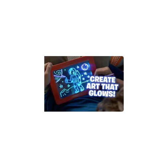 LittleBuddy Magic Pad Freezing Light Painting Board Drawing Tablet Pad 3D LED Luminous Doodle Graffiti Sketchpad Toy