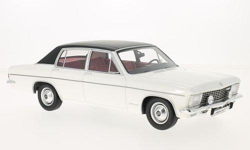Opel Admiral B, Weißs Schwarz 1971, Modellauto, Fertigmodell, BoS-Models 1 18