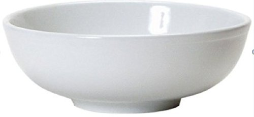 Soup Bowls - 2 White Porcelain Ceramic Vietnamese Pho Japanese Ramen Noodles Menudo Pasta Popcorn Fruit Dessert Serving Dishes (8.5 inches) by CAC