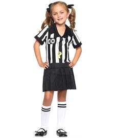 Costumes Girls For Referee (Leg Avenue Pretty Referee Child Costume Black/White X-Small)
