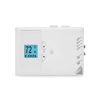 LuxPro Digital Non-Programmable Heat Pump Thermostat (1/2H - 1C)