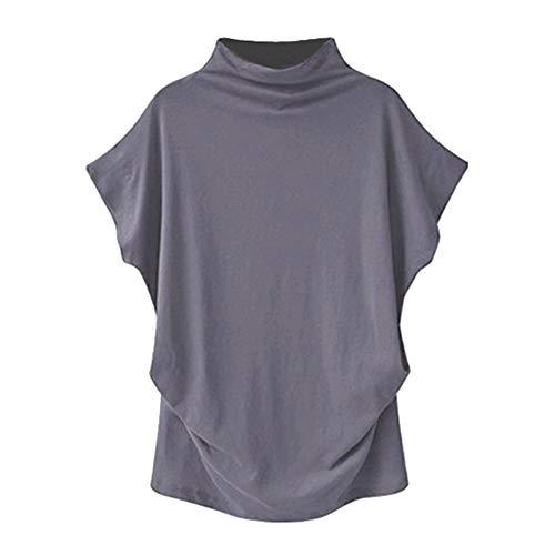 Dry Turtleneck Web - Plus Tops Women Turtleneck Short Sleeve Blouse Cotton Solid Casual T Shirt