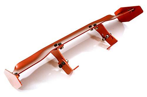 Integy RC Model Hop-ups C24896RED Realistic 1/10 Size Aluminum Rear Wing 165mm (Alloy Rear Wing)