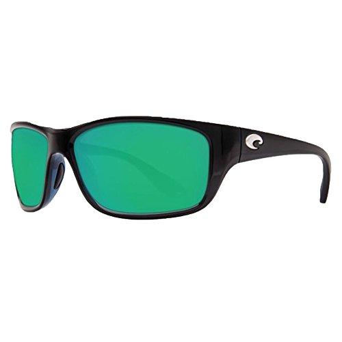 Costa Del Mar Tasman Sea 580P Tasman Sea, Shiny Black Green Mirror, Green - Used Del Mar Sunglasses Costa