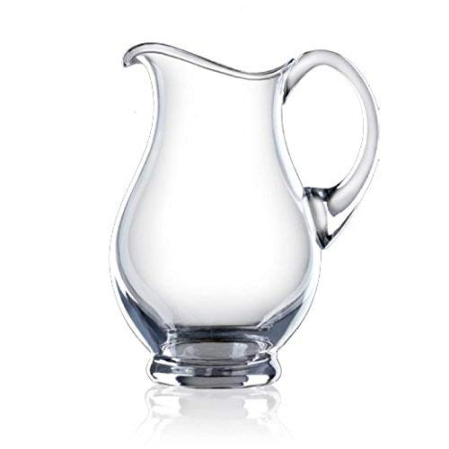 Large Crystal Glass Pitcher - Sangria, Water, Mimosa, Lemonade, Mix- Classic, Elegant and Durable, Multi-Purpose Jug - Bohemia Crystal - 50 Ounces / 1500 Milliliters (Pitcher Crystal Classic)