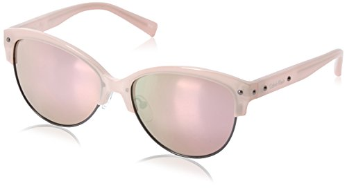Calvin Klein Women's R728S Oval Sunglasses, Milky Blush, 57 mm