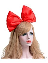 Ztl Women Huge Bow Headband Hairband Hair Hoop Costume Accessories Party Props, Red ()